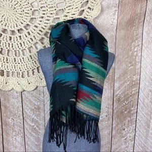 Accessories - Boho Western Acrylic Woven Fringe Scarf